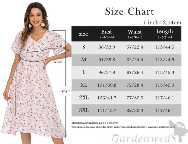 Floral Chiffon Dresses for Women Flowy Homecoming Cocktail Dress Casual Beach Sun Dress | Gardenwed