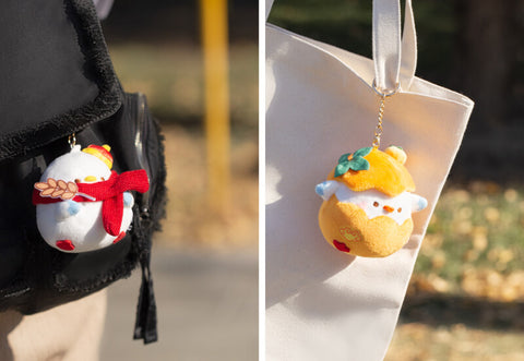 Duck Soft Plush Stuffed Animal Keychain Key Ring Bag Charm