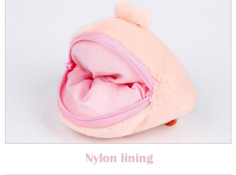Plush Cute Piggy Nose/Butt Coin Purses
