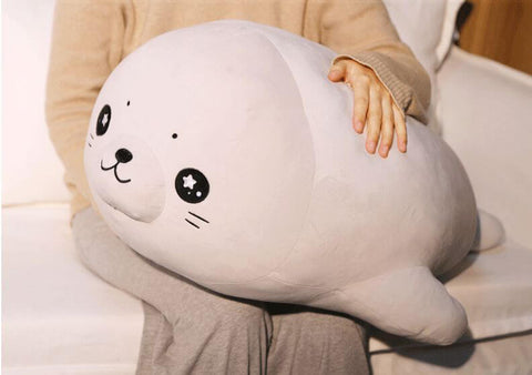Soft Seal Hugging Pillow With Stars In The Eyes