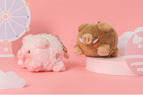 Cute Plush Pig Stuffed Animal Bag Charm