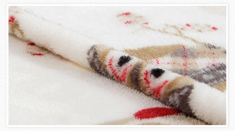 Soft Owl Print Blanket Soft Throw Fleece Blanket for Couch Bed