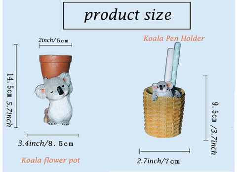 Koala Resin Crafts-Phone stand/Pen holder/Pen tray/Eyeglass stand/Flower pot