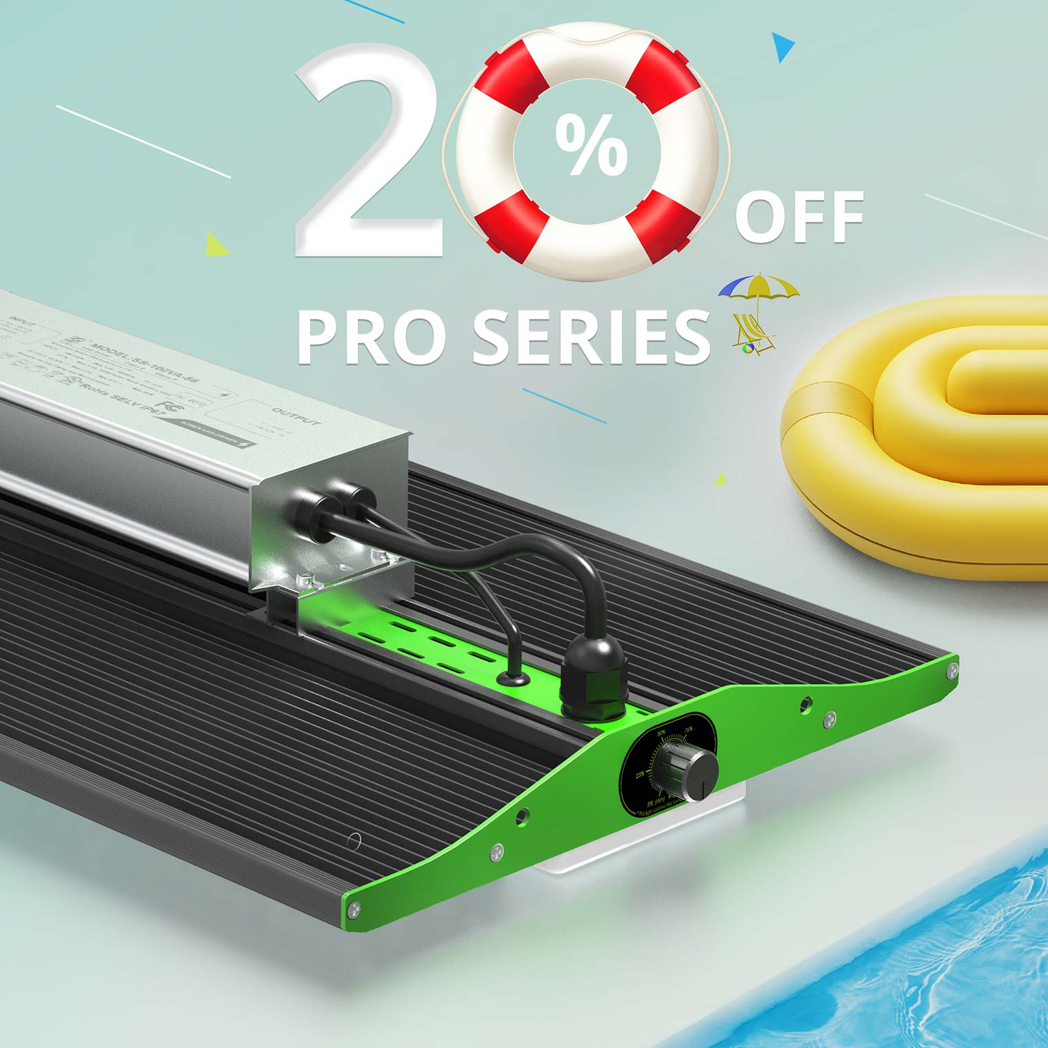 20% off pro series artwork, with rubber and water