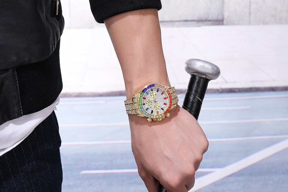 Diamond Steel Iced Out Watch