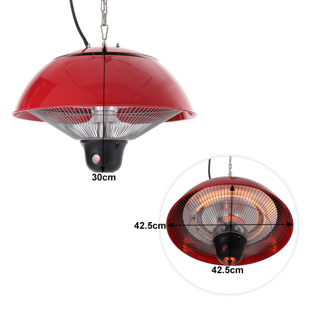 Electric Patio Ceiling Hanging Heater Heating Halogen Infrared Pendant Heater