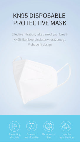 kn95 disposable face cover