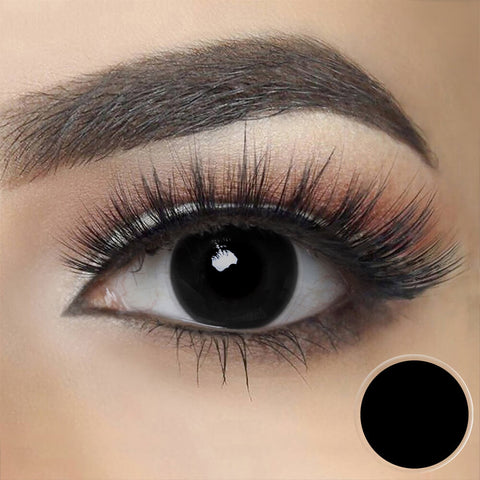 Blind Black Cosplay Contact Lenses