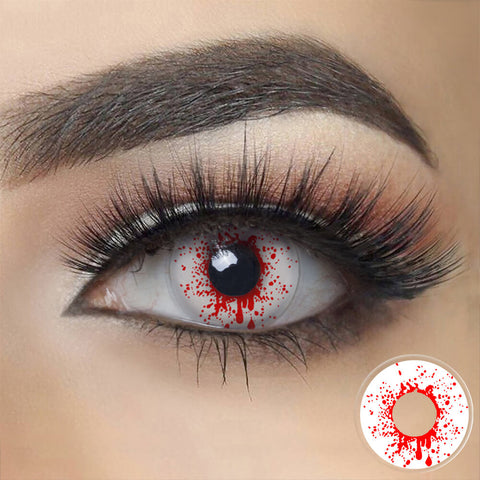 Crazy Blood Splat Zombie Contacts