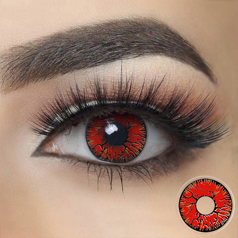 Red Crack Zombie Cosplay Contacts
