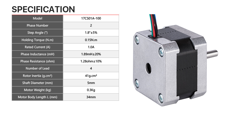 cnc stepper motor 2 phase 1.8 deg. high torque 42mn.m linear stepping motor nema 17