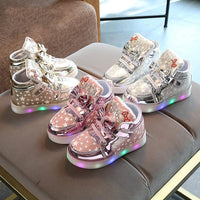 New Arrival Luminous Kids Led Sneakers Girls Glowing Bright Sneakers Flashing Lights Up Led Shoes Basket Children Lighting Shoes Breathable