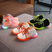 Child Casual Led Shoes Toddler Infant Kids Baby Girls Boys Mesh LED Light Luminous Sport Shoes Spring Autumn Winter Light Up Sneakers