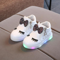 Ligtht Led Shoes Glowing For Girls Spring Autumn Basket Led Children Lighting Shoes Fashion Luminous Baby Kids Sneaker Flat  Bright Sneakers