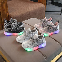 Toddler Boy Led Sneakers Children Baby Boys Mesh Light Up Led Shoes Luminous Running Sport  Bright Sneaker Shoes Chaussure Lumineuse Pour Garcon