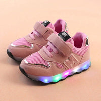 Toddler Kids Mesh Led Shoes Children Baby Shoes Light Up LED Shoes Luminous Sneakers Baby Schoenen Meisje New Born Baby Bright Shoes