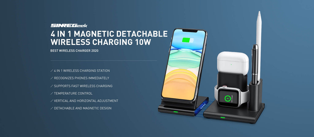 4 in 1 wireless charging station for apple watch