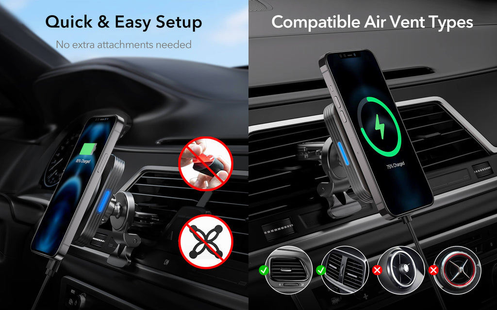 ESR Halolock magnetic wireless car charger