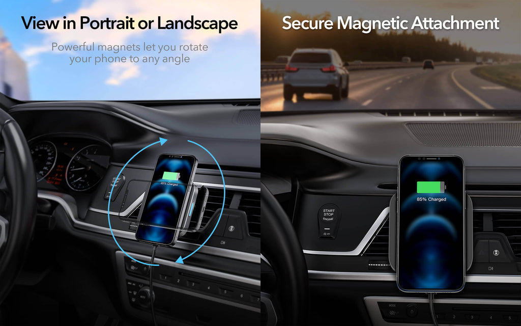 ESR Halolock magnetic wireless car charger for iphone 12