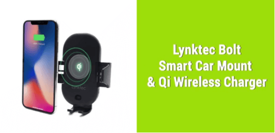 Lynktec bolt smart car mount and qi wireless charger