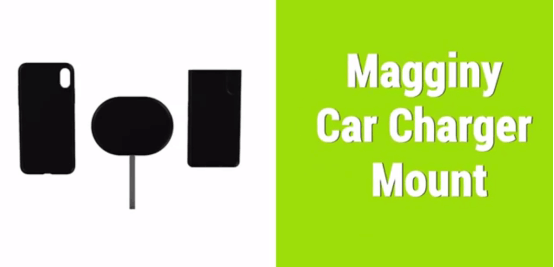 Magginy wireless car charger mount