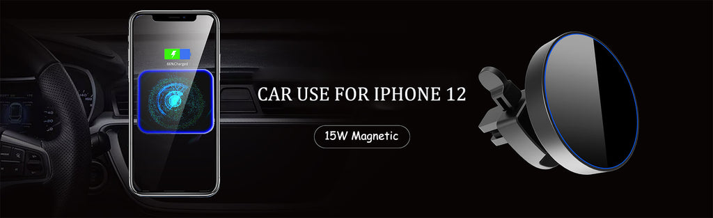 Magnetic wireless car charging mount iphone 12 mini