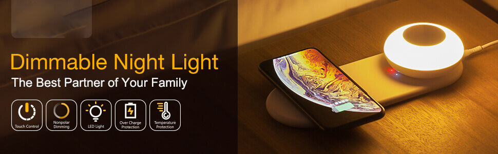 wireless charging pad and led lamp