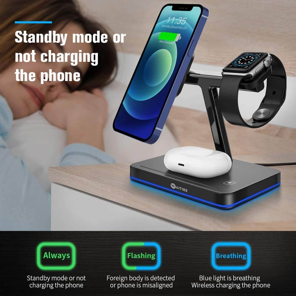 waitiee 3in1 magnetic wireless charger