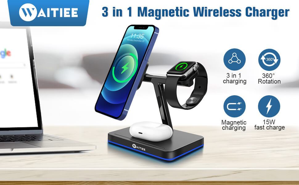 review of waitiee wireless charging station