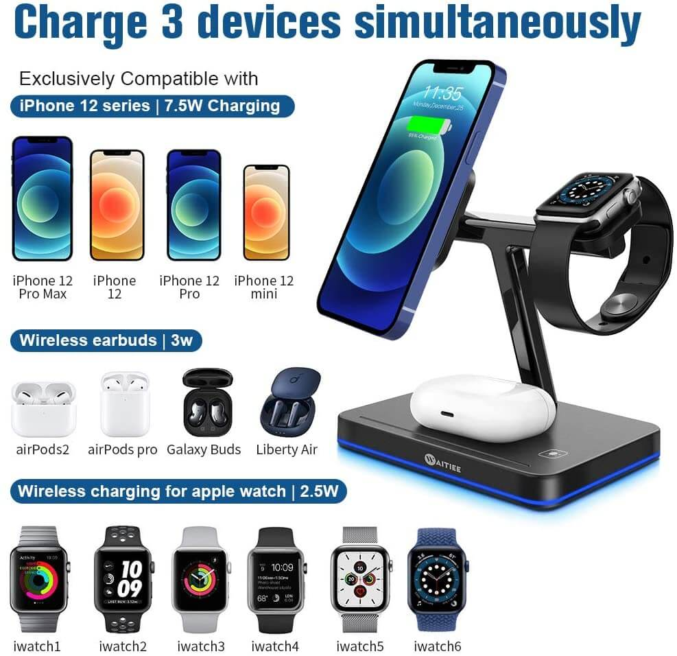 wireless charger with magnetic mount