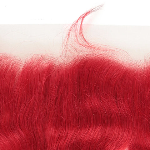 """Red hair bundles with frontal closure body wave 4x4 5x5 13x4"""" transparent lace hot selling"""