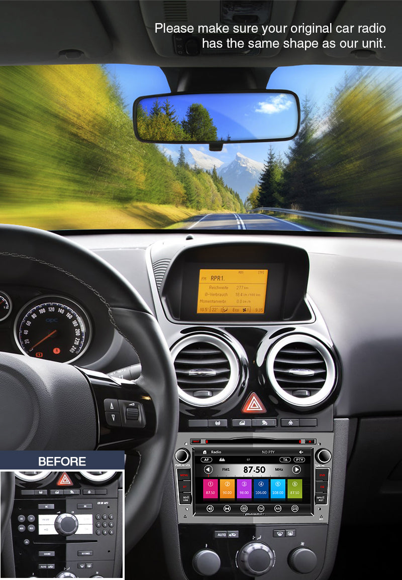vauxhall radio head unit