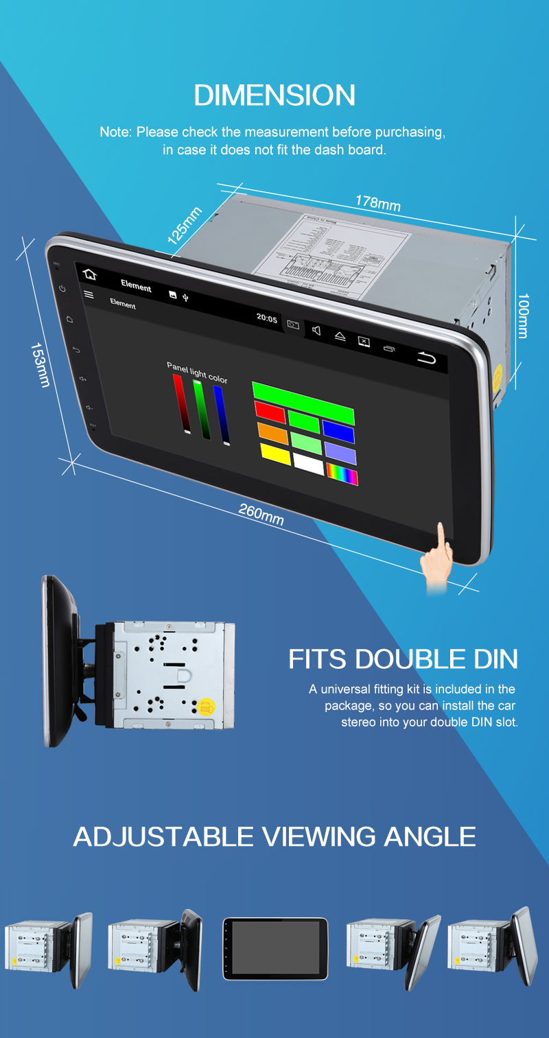 10 inch android car stereo