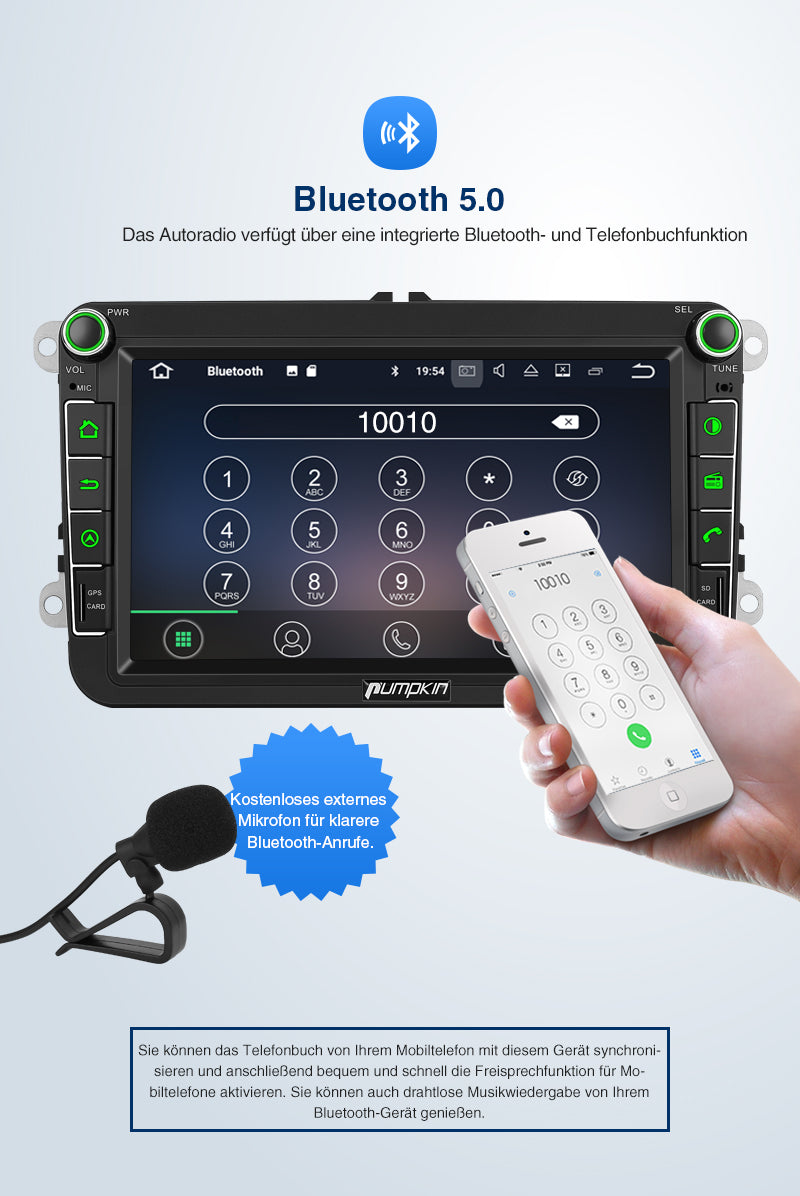 VW autoradio mit Bluetooth