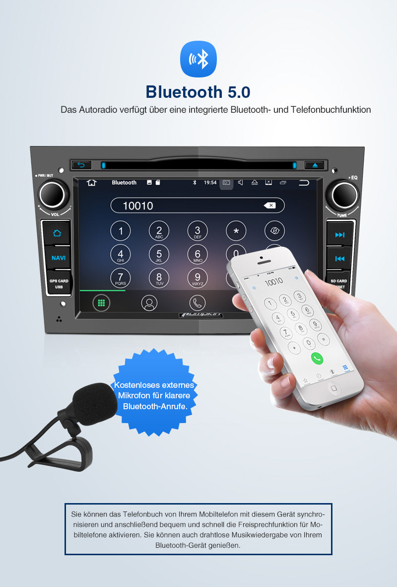 android 10 opel radio mit Bluetooth