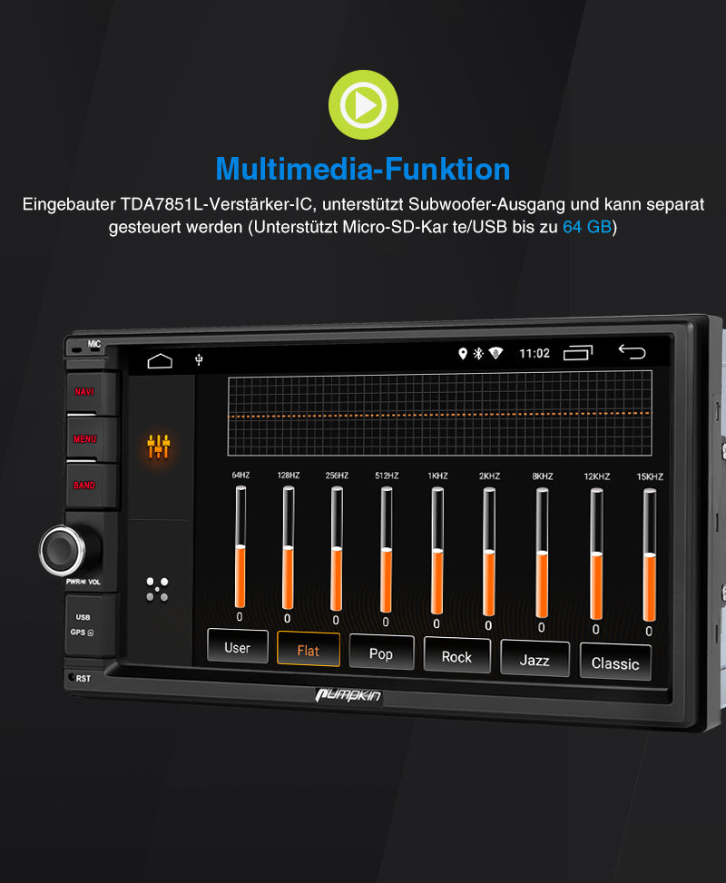 2 din touch screen android autoradio