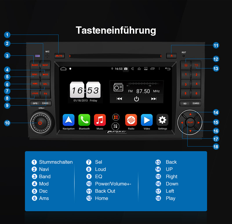 benz android 10 autoradio navi