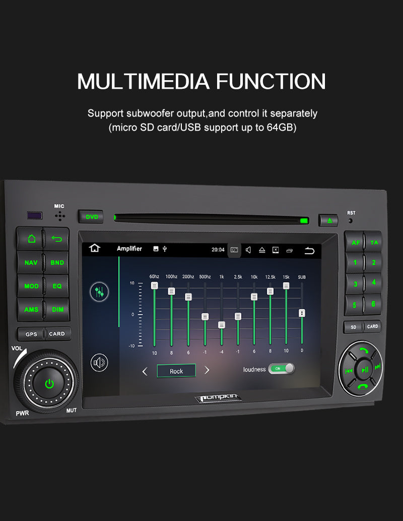 autoradio android 10 mercedes clk