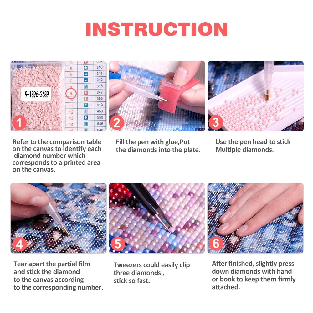 INSTRUCTION OF HOW TO FINISH A DIAMOND PAINTING