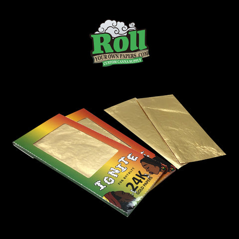 Gold Rolling paper - cannabis swag