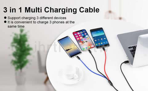 Ihrtrade,Creative 3C,DS30085_Cable_3in1,3 In 1 Charging Cable Kmart,Moshi 3 In 1 Universal Charging Cable