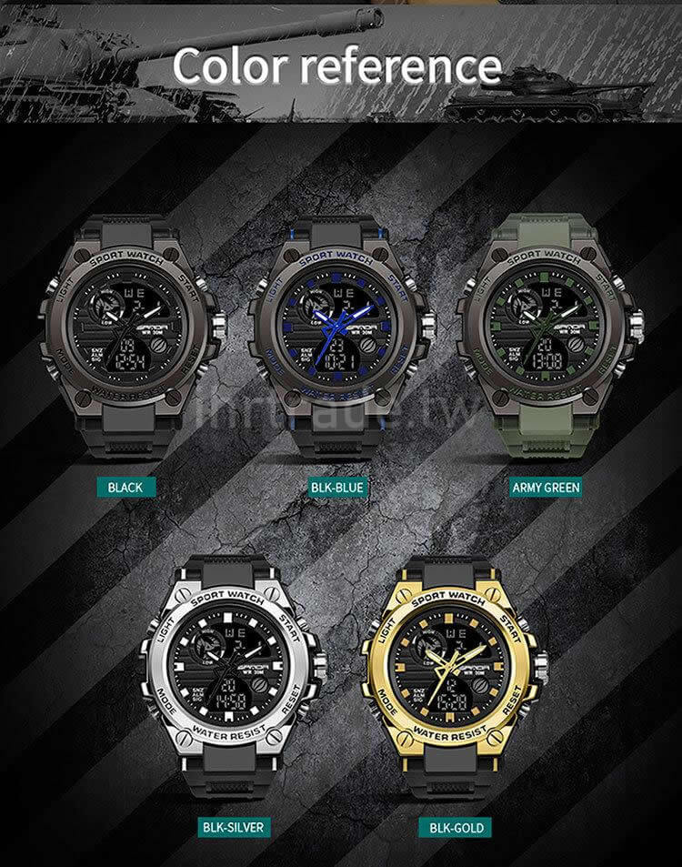 Ihrtrade,Outdoors Equipment,TWAH030586,Tactical Watches,Real Military Watches