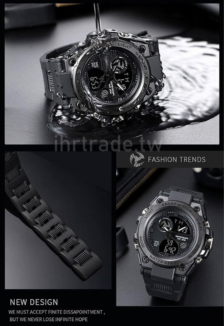 Ihrtrade,Outdoors Equipment,TWAH030586,Men's Tactical Military Watches,Tactical Special Force Military Watches