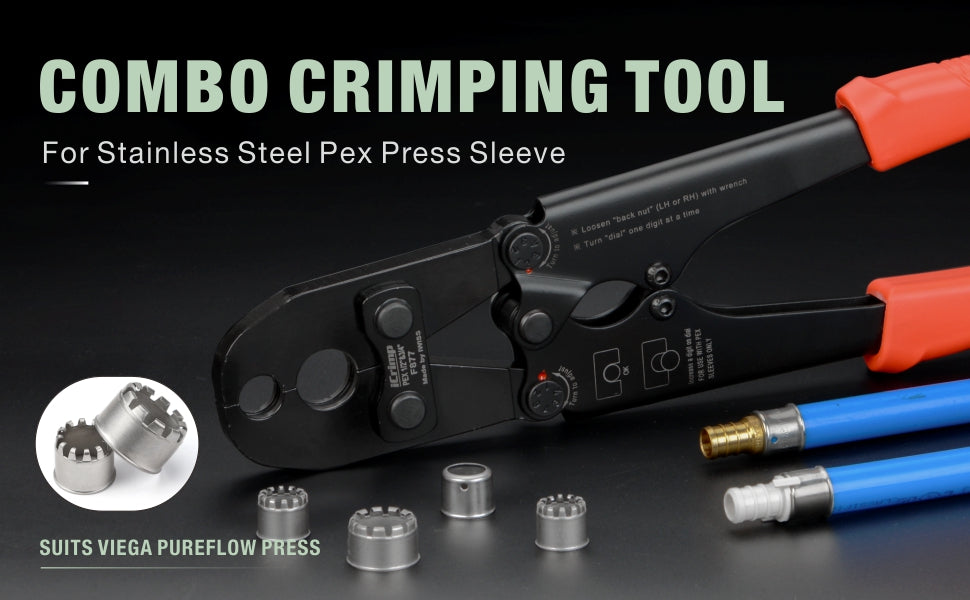 stainless steel combo crimping tool IWS-S1234