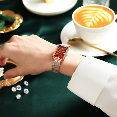 Rorolove new collection - Square diamond watch & flamingo jewelry