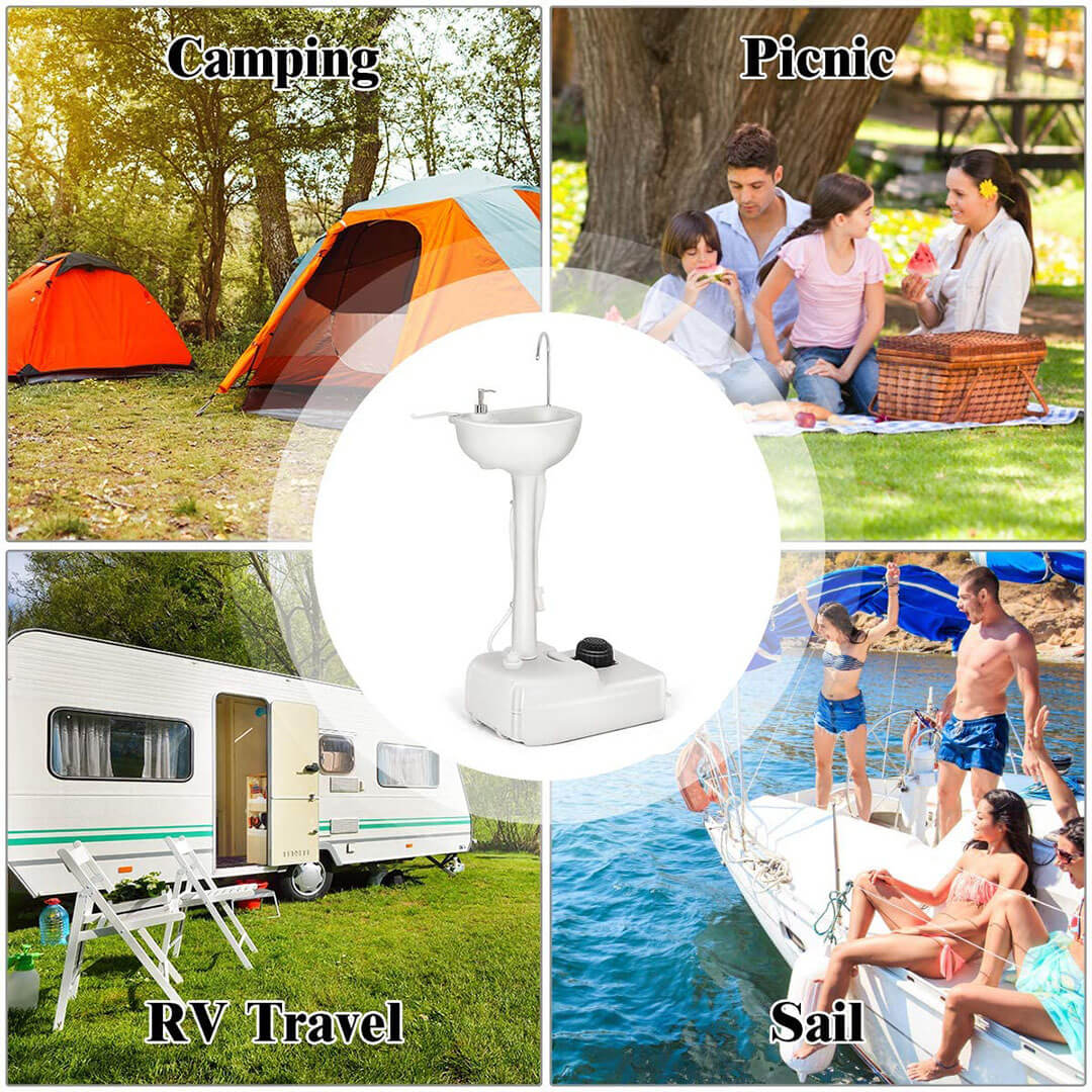 portable camping sink use many occasion