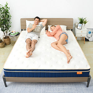 Sweet Night Ocean Blue Hybrid Mattress motion isolation and full support