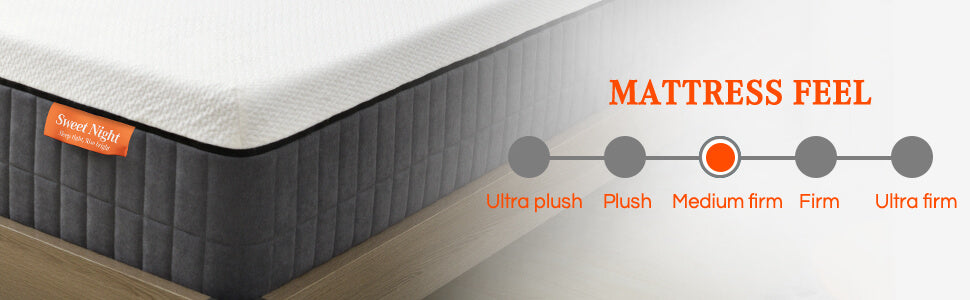 Sweet Night Sunkiss Memory Foam Medium Firm Mattress Offers Supportive Support