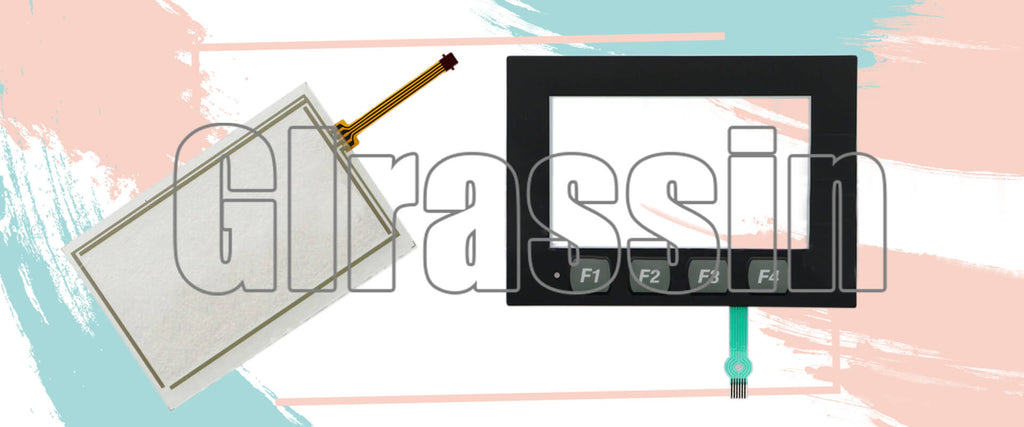 Touch Screen and Membrane Keyboard for Panelview 800 2711R-T4T Repair Replacement