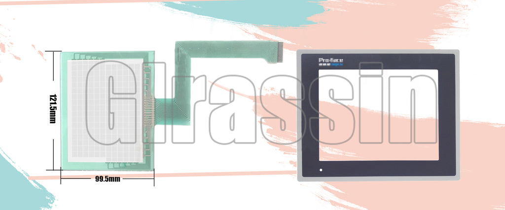Touch Screen and Protective Flim for Proface GP270-LG/SC31-24V Replacement